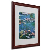 "Trademark Claude Monet ""Waterlilies Classic"" Art, White Matte With Wood Frame, 16"" x 20"""
