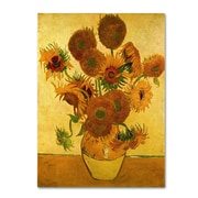 "Trademark Vincent Van Gogh ""Vase with Sunflowers"" Gallery-Wrapped Canvas Art, 35"" x 47"""