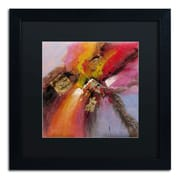 "Trademark Ricardo Tapia ""Sunset"" Canvas Art, Black Matte With Black Frame, 16"" x 16"""
