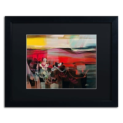 "Trademark Andrea ""Amhaus II"" Art, Black Matte With Black Frame, 16"" x 20"""
