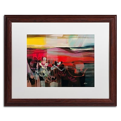 """Trademark Andrea """"Amhaus II"""" Art, White Matte With Wood Frame, 16"""" x 20"""""""