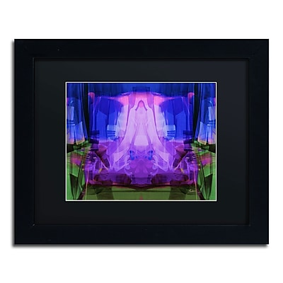 "Trademark Andrea ""Midnight"" Art, Black Matte With Black Frame, 11"" x 14"""