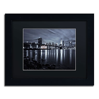 Trademark David Ayash Black Matte W/Black Frame