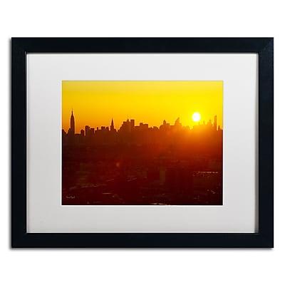 "Trademark David Ayash ""Hells Gate Bridge - NYC"" Art, White Matte With Black Frame, 16"" x 20"""