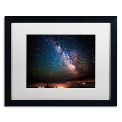 "Trademark David Ayash ""Milky Way Over Acadia...Maine"" Art, White Matte With Black Frame, 16"" x 20"""