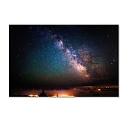 """Trademark David Ayash """"Milky Way Over Acadia National Park.."""" Gallery-Wrapped Canvas Art, 12"""" x 19"""""""
