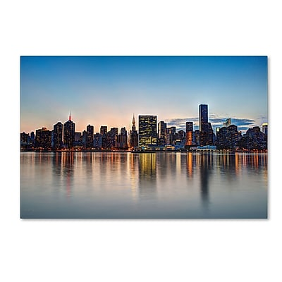 "Trademark David Ayash ""Midtown NYC Over the East River-I"" Gallery-Wrapped Canvas Art, 12"" x 19"""