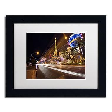 Trademark David Ayash White Matte With Black Frame