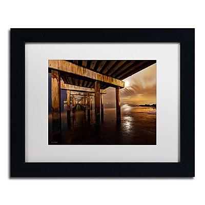 "Trademark David Ayash ""Coney Island - Brooklyn, NY II"" Art, White Matte With Black Frame, 11"" x 14"""