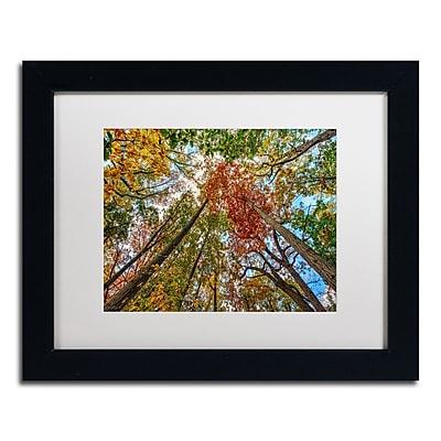 "Trademark David Ayash ""New York Fall-I"" Art, White Matte With Black Frame, 11"" x 14"""