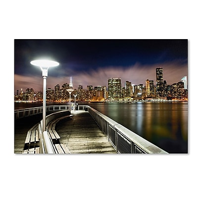 "Trademark David Ayash ""Gantry Plaza - NYC"" Gallery-Wrapped Canvas Art, 16"" x 24"""
