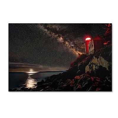 "Trademark David Ayash ""Bass Harbor Lighthouse - Maine"" Gallery-Wrapped Canvas Art, 30"" x 47"""