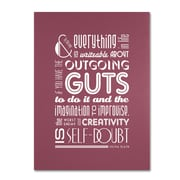 "Trademark Megan Romo ""Outgoing Guts II"" Gallery-Wrapped Canvas Arts"