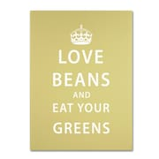 "Trademark Megan Romo ""Love Beans"" Gallery-Wrapped Canvas Art, 35"" x 47"""