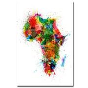 "Trademark Michael Tompsett ""Africa Paint Splashes"" Gallery-Wrapped Canvas Art, 22"" x 32"""