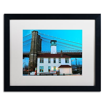 "Trademark CATeyes ""Brooklyn 1"" Art, White Matte W/Black Frame, 16"" x 20"""