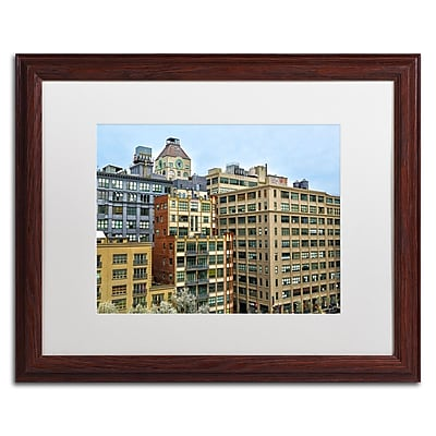"Trademark CATeyes ""Brooklyn 2"" Art, White Matte W/Wood Frame, 16"" x 20"""