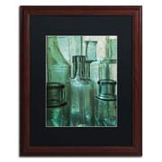 "Trademark Patty Tuggle ""Antique Bottles"" Art, Black Matte With Wood Frame, 16"" x 20"""