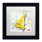 """Trademark Roderick Stevens """"Shoulder Dress Yellow n White"""" Art, White Matte W/Black Frame, 11"""" x 11"""""""
