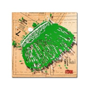 "Trademark Roderick Stevens ""Snap Purse Green"" Gallery-Wrapped Canvas Art, 24"" x 24"""