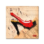 "Trademark Roderick Stevens ""Suede Heel Red"" Gallery-Wrapped Canvas Art, 35"" x 35"""