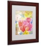 """Trademark Sheila Golden """"Sonoma Garden"""" Art, White Matte With Wood Frame, 11"""" x 14"""""""