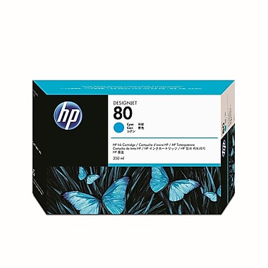 HP 80 350-ml Cyan Ink Cartridge (C4846A)