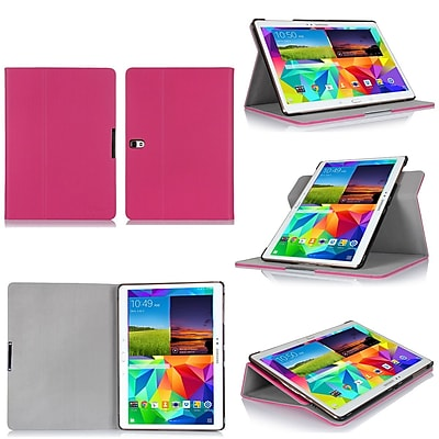 GearIT 360 SPINNER Folio Case Cover for Galaxy Tab S 10.5, Magenta