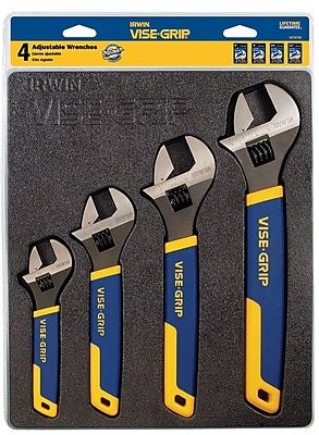IRWIN 4 Pieces Adjustable Wrench Tray Set