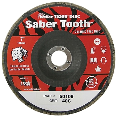 WEILER Saber Tooth Ceramic Flap Disc