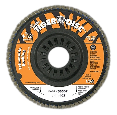 WEILER Trimmable Flap Disc