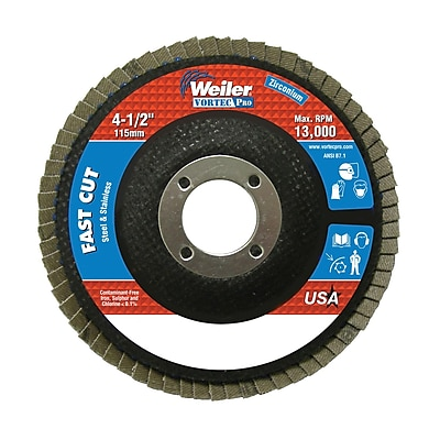 WEILER Vortec-Pro Abrasive Flap Disc