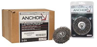 ANCHOR BRAND Crimped Wheel Brushes 1452698
