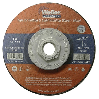 WEILER Cutting & Light Grinding Wheel