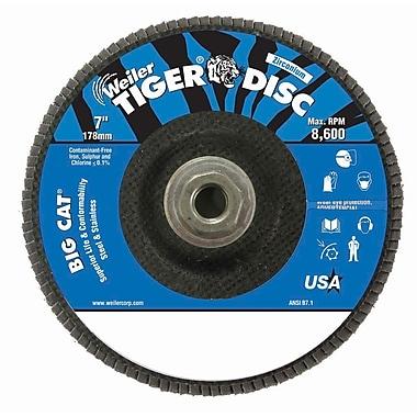 WEILER Disc Big Cat Abrasive Flap Disc Phenolic, 40 Grit
