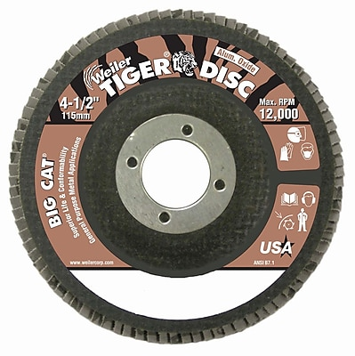 WEILER High Density Flat Style Flap Discs, 60 Grit
