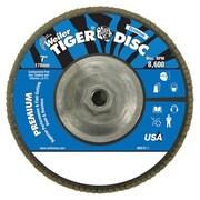 "WEILER 7"" Tiger Disc Abrasive Flap Disc, 60 Grit"