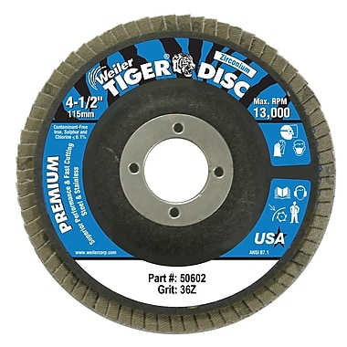 WEILER Angled Style Flap Discs, 36 Grit