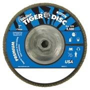 "WEILER 7"" Tiger Disc Abrasive Flap Disc, 80 Grit"