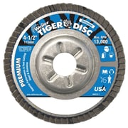 WEILER Angled Style Flap Discs, 120 Grit