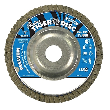WEILER Angle-Style Flap Discs, 80 Grit