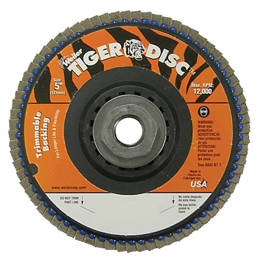 WEILER Trimmable Flap Discs 40 Grit
