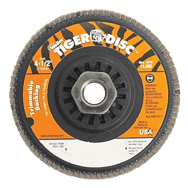 WEILER Trimmable Flap Discs, 40 Grit