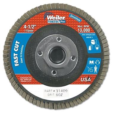 WEILER Abrasive Flap Disc, Flat