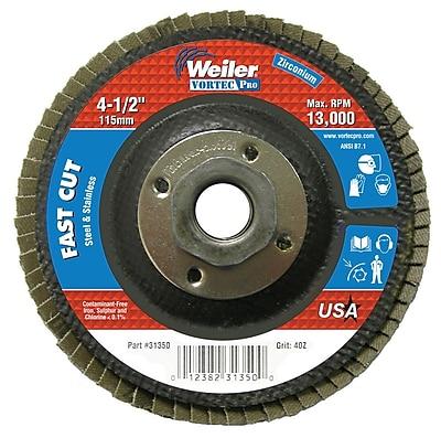 WEILER Vortec Pro Abrasive Flap Discs