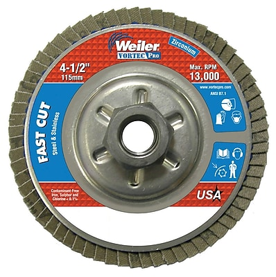 WEILER Vortec Pro Abrasive Flap Disc