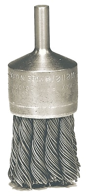WEILER Hollow-End Knot Wire End Brushes, 0.006