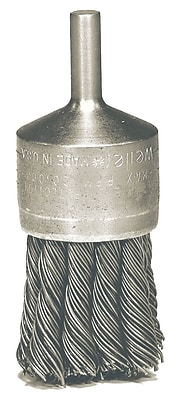 WEILER Hollow End Knot Wire End Brushes, 0.020