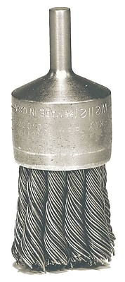 WEILER Hollow End Knot Wire End Brushes, 0.014