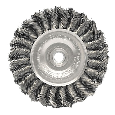 WEILER Standard Twist Knot Wire Wheels, 0.014 Wire